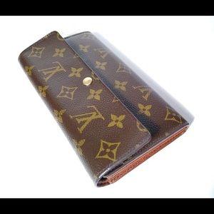 Authentic Louis Vuitton Sarah Monogram Wallet